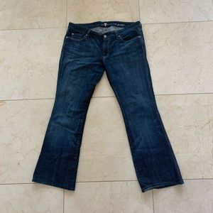 7 For All Mankind Dark Wash Sz 32 A Pocket Jeans